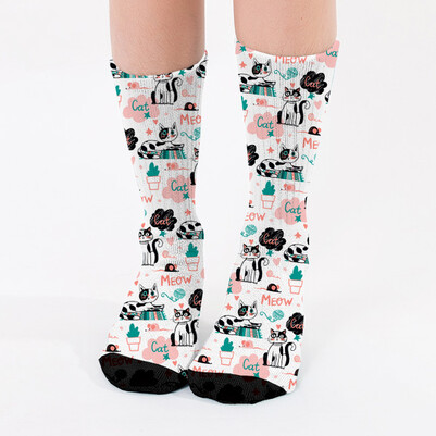 - Minnak Kediciğim Kadın Çorabı