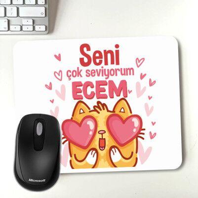 - Minnoş Kedicik Sevgililere Özel Mousepad