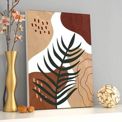 - Modern Leaf Sanatsal Kanvas Tablo