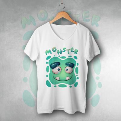 - Monster Tasarım Unisex Tişört
