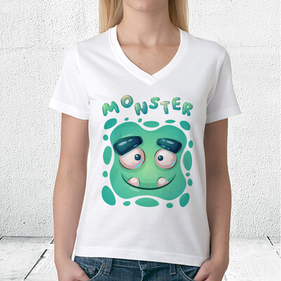 Monster Tasarım Unisex Tişört - Thumbnail