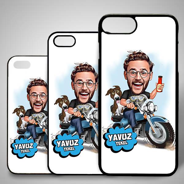 Motorcu Karikatürlü Iphone Kapak