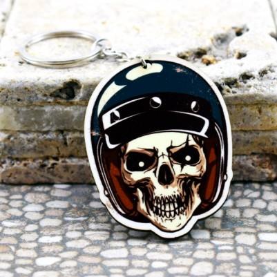 Motorcu Kuru Kafa Sıra Dışı Anahtarlık - Thumbnail