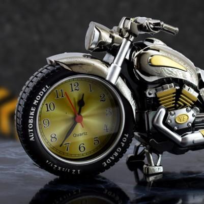 Motosiklet Tasarımlı Alarm Masa Saati - Thumbnail