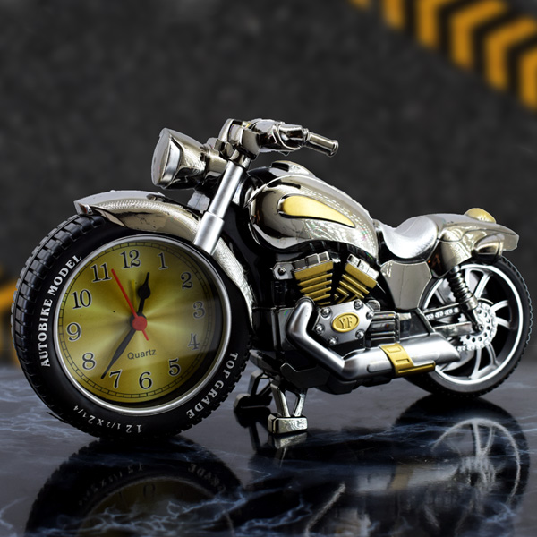 Motosiklet Tasarımlı Alarm Masa Saati