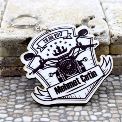 Motosiklet Temalı İsme Özel Anahtarlık - Thumbnail
