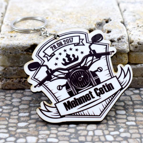 Motosiklet Temalı İsme Özel Anahtarlık