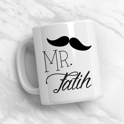 Mr. & Mrs. İsme Özel Konsept Hediye Kutusu - Thumbnail
