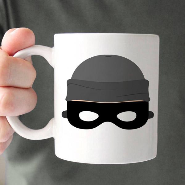 Hırsız Maskeli Kupa Bardak
