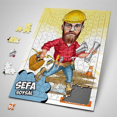 - Mühendis Karikatürlü Puzzle