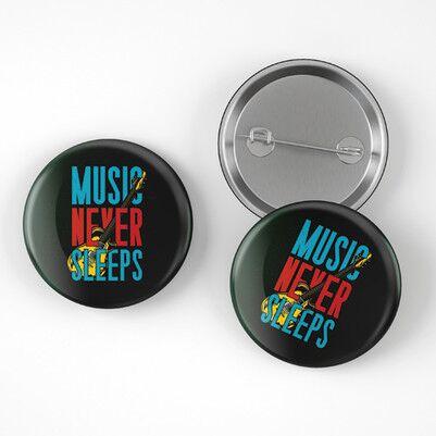 Music Never Sleeps Buton Rozet - Thumbnail