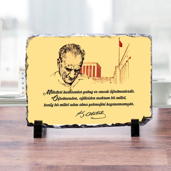Mustafa Kemal Atatürk Dekoratif Taş Süs