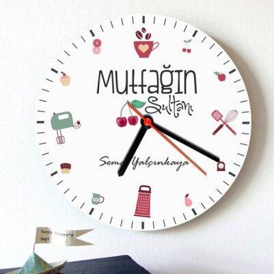 - Mutfağın Sultanlarına Özel Duvar Saati