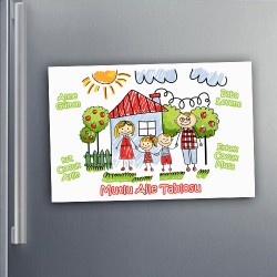 Mutlu Aile Tablomuz Buzdolabı Magneti - Thumbnail