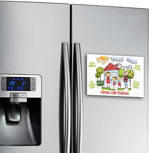 Mutlu Aile Tablomuz Buzdolabı Magneti