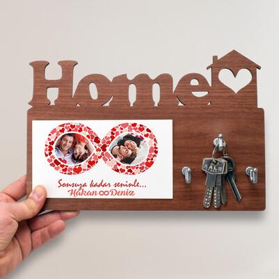 - Mutlu Aşıklar Home Anahtarlık Askısı