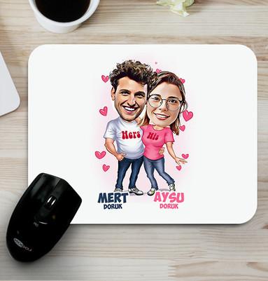 - Mutlu Aşıklar Karikatürlü Mouse Pad