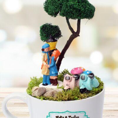 Mutlu Aşıklar Minyatür Bahçe - Thumbnail
