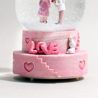 Mutlu Aşıklar Sevgiliye Hediye Kar Küresi K01 - Thumbnail