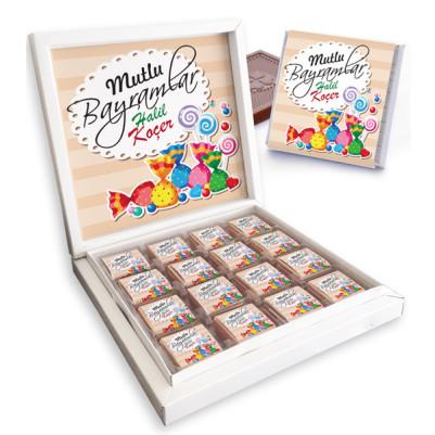 - Mutlu Bayramlar Mesajlı Bayram Çikolatası