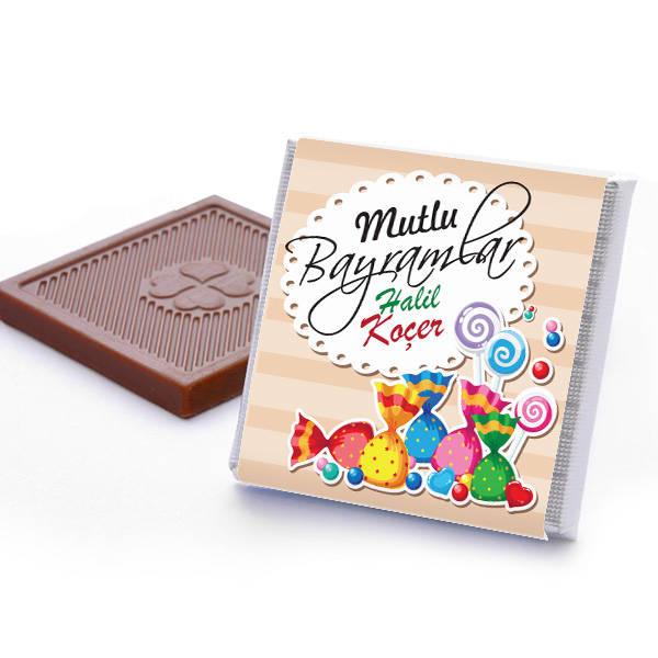 Mutlu Bayramlar Mesajlı Bayram Çikolatası