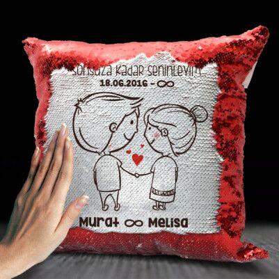 - Mutlu Çiftler İsme Özel Sihirli Yastık