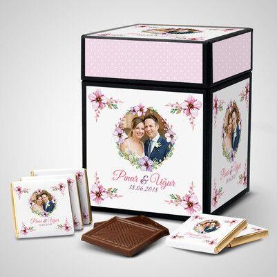 - Mutlu Çiftler Kişiye Özel Çikolata Kutusu