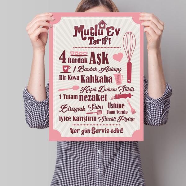 Mutlu Ev Tarifi Posteri