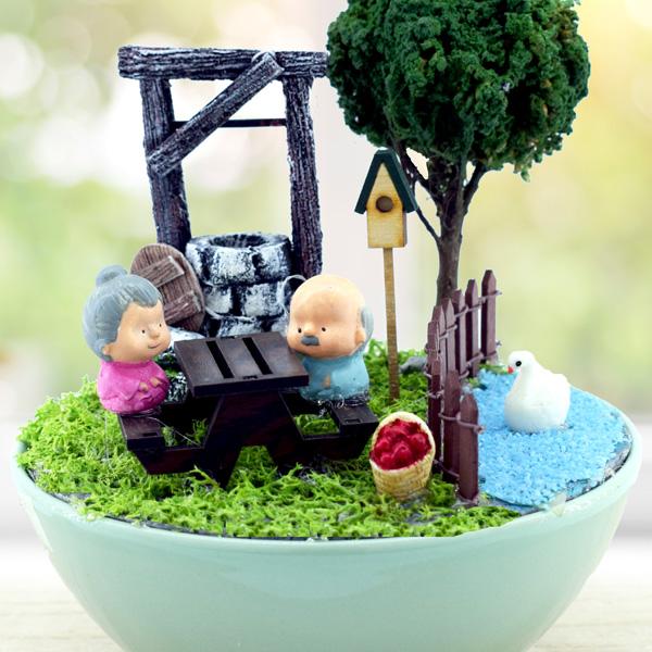 Mutlu Mesut Aşkımız Minyatür Bahçe