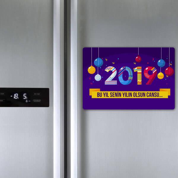 Mutlu Seneler Buzdolabı Magneti