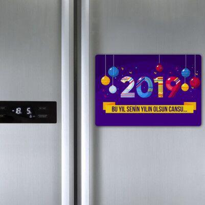 Mutlu Seneler Buzdolabı Magneti - Thumbnail
