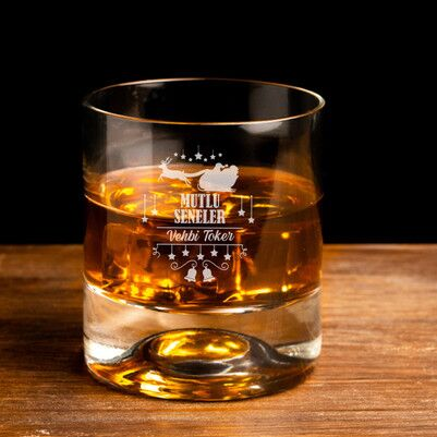 - Mutlu Seneler İsme Özel Viski Bardağı