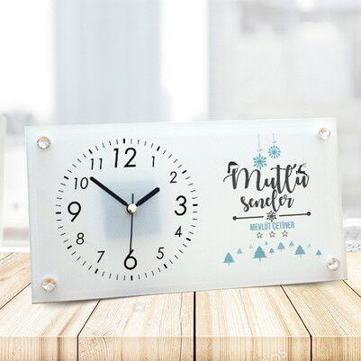 - Mutlu Seneler Tasarım Cam Masa Saati
