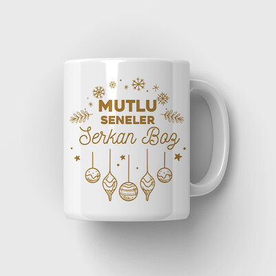 - Mutlu Seneler Tasarım Yılbaşı Kupa Bardağı