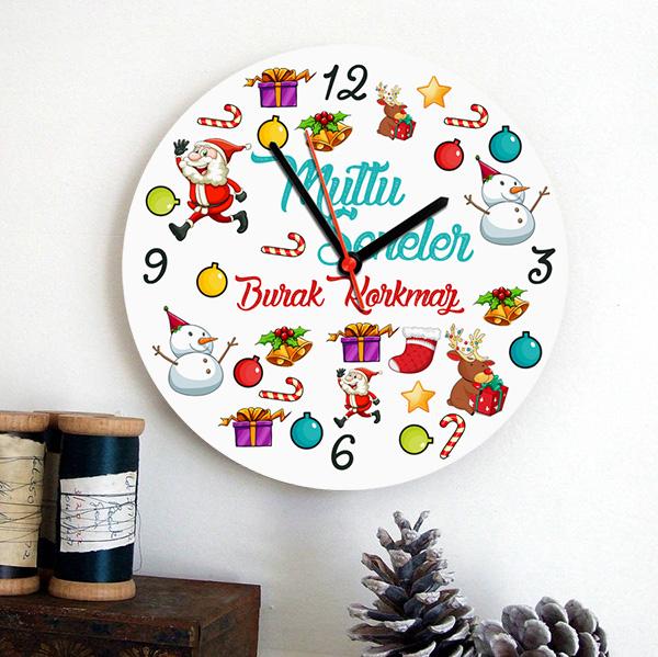 Mutlu Seneler Yılbaşı Duvar Saati