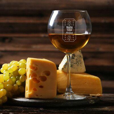 - Mutlu Yıllar İsim Baskılı Şarap Kadehi