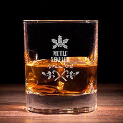 - Mutlu Yıllar İsim Baskılı Viski Bardağı