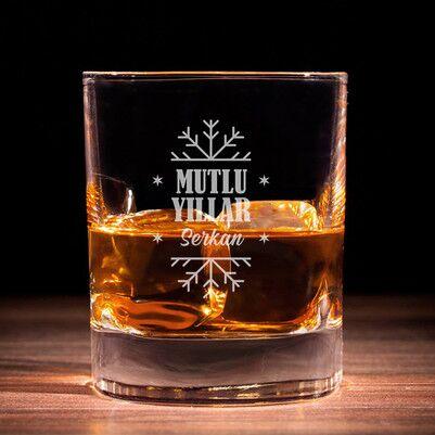 - Mutlu Yıllar İsme Özel Viski Bardağı