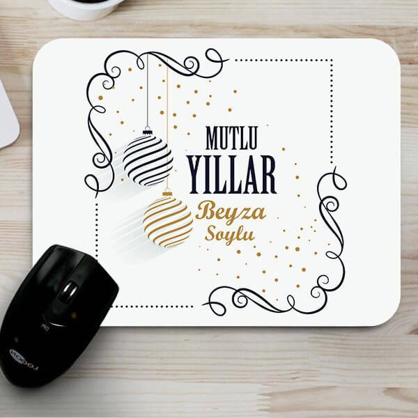 Mutlu Yıllar Mesajlı Mouse Pad