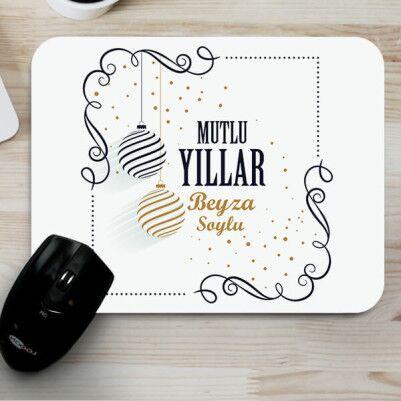- Mutlu Yıllar Mesajlı Mouse Pad