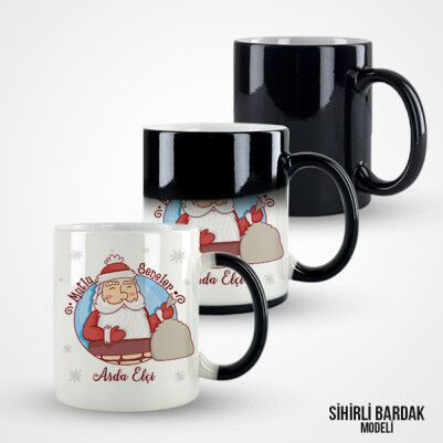 Mutlu Yıllar Noel Baba Kahve Kupası - Thumbnail