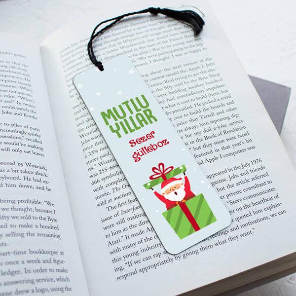 Mutlu Yıllar Noel Baba Kitap Ayracı