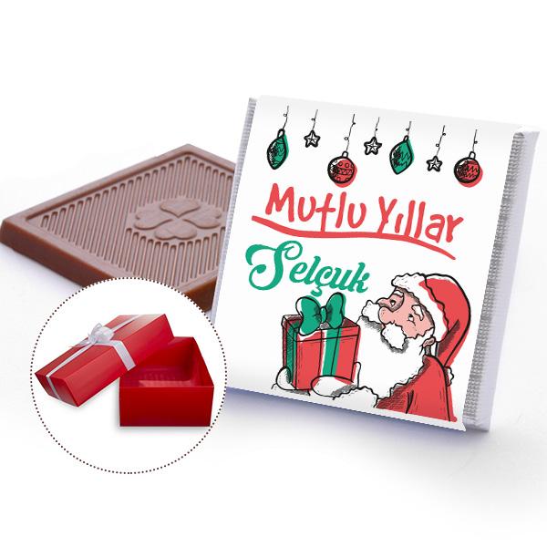 Mutlu Yıllar Yılbaşı Çikolataları