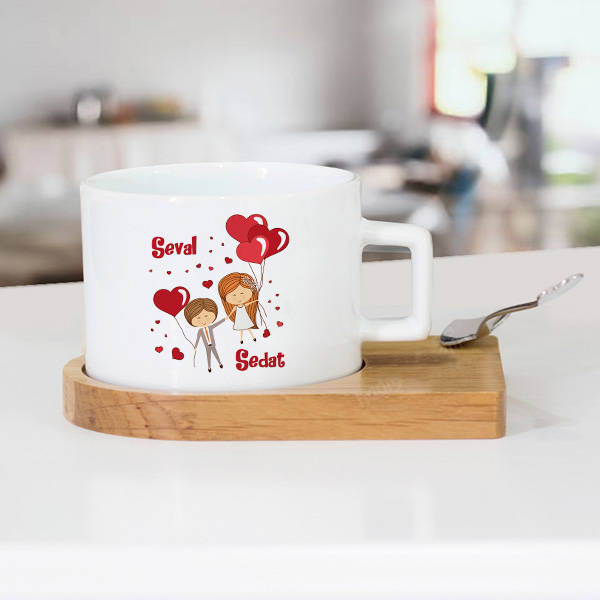 Mutluluğa Uçalım Çay Fincanı