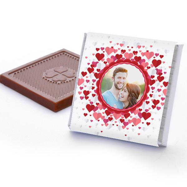 Mutluluk Yağmurları Fotoğraflı Sevgili Çikolataları