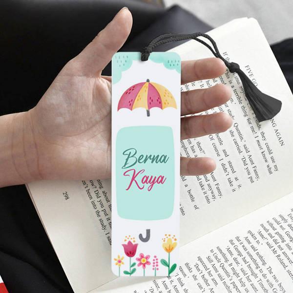 Mutluluk Yağmuru İsimli Kitap Ayracı