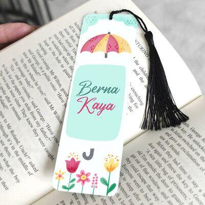 Mutluluk Yağmuru İsimli Kitap Ayracı - Thumbnail