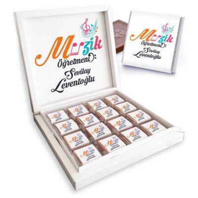 - Müzik Öğretmenine Hediye Çikolata Kutusu