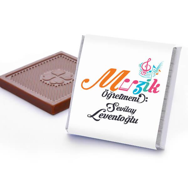 Müzik Öğretmenine Hediye Çikolata Kutusu