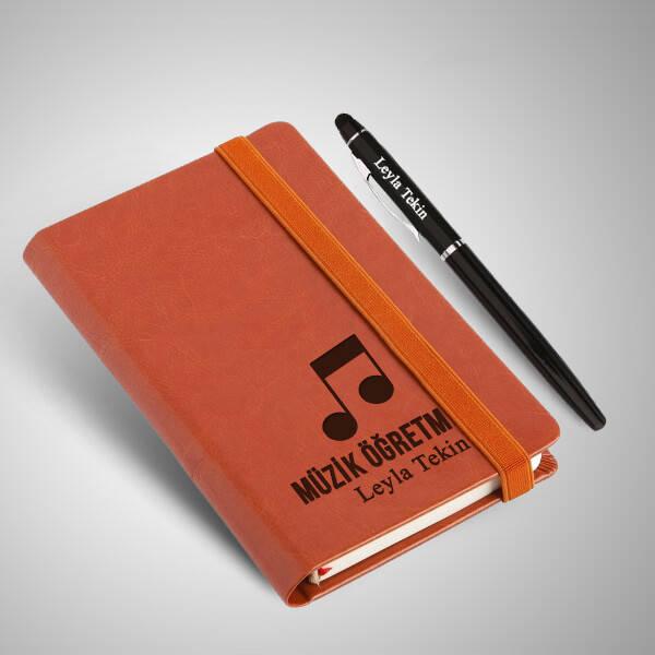 Müzik Öğretmenine Hediye Defter Ve Kalem